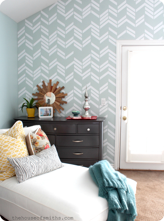 Scattered Herringbone wall decal - thehouseofsmithsdesigns.com
