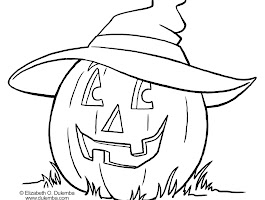 Color By Number Halloween Witch Coloring Page