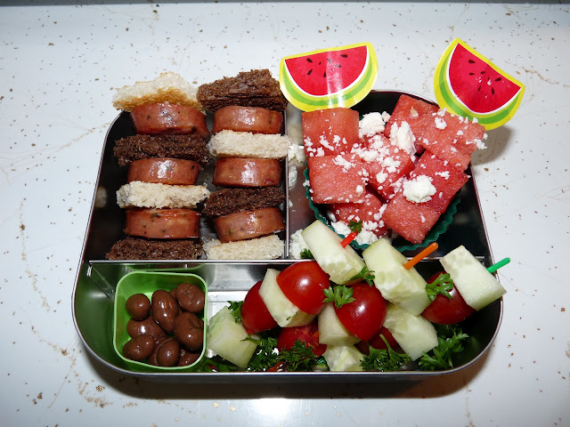 Aidell's kabob bento lunch