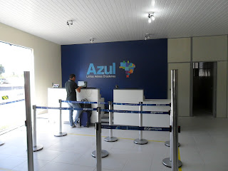 Check-in da Azul no Aeroporto Regional do Cariri.