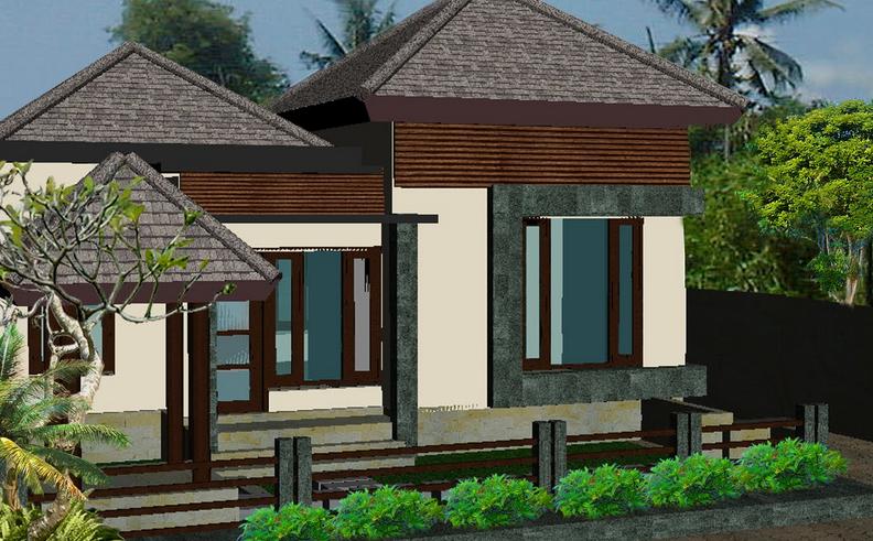 Contoh Desain Rumah Bali Modern Minimalis Terbaru