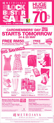 Metrojaya Blockbuster Sale 2012