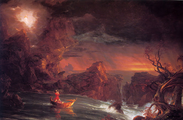 Thomas Cole voyage of life manhood romanticism naturalism