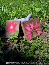 Yard Art I Handpainted onto Wood Blocks