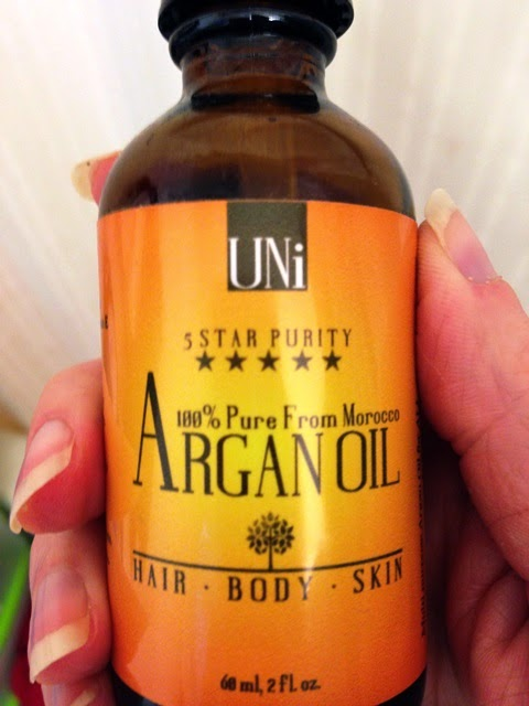 bottle of UNi Argan Oil