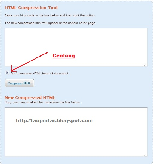 compress HTML http://taupintar.blogspot.com