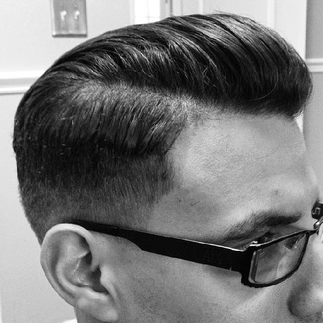 Mens pompadour haircut 2012