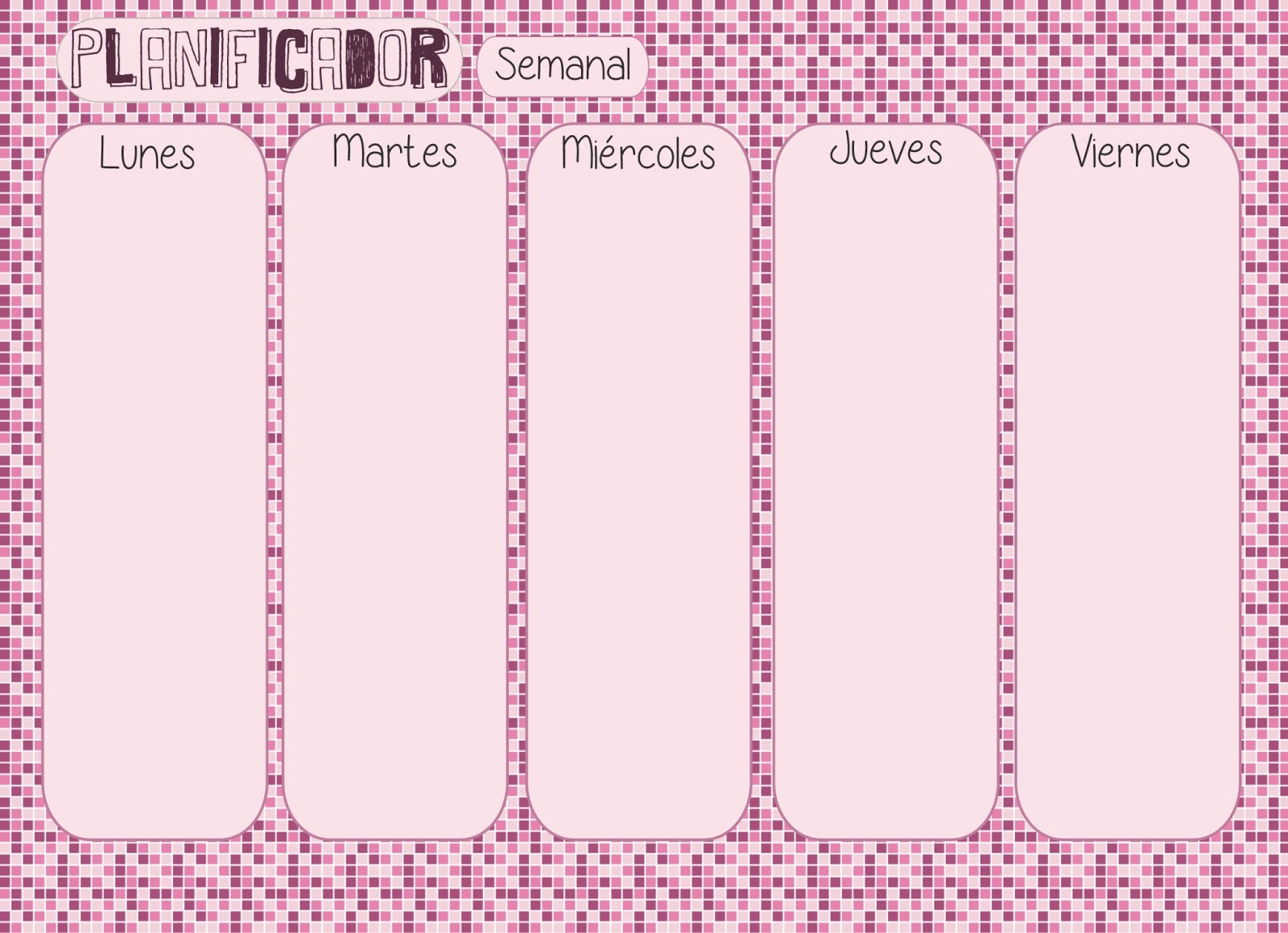 Contemporáneo Plantilla Del Planificador Semanal 2014 Adorno ...