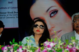 Actress Rani Mukherjee Pictures in Denim Jeans at Mumbai University Felicitation Program  29.JPG
