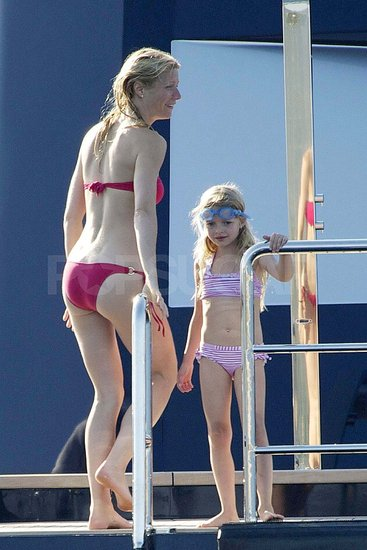 Retro Bikini Gwyneth Paltrow Wears Red Bikini On Steven Spielberg House At Sardinia 100 Photos