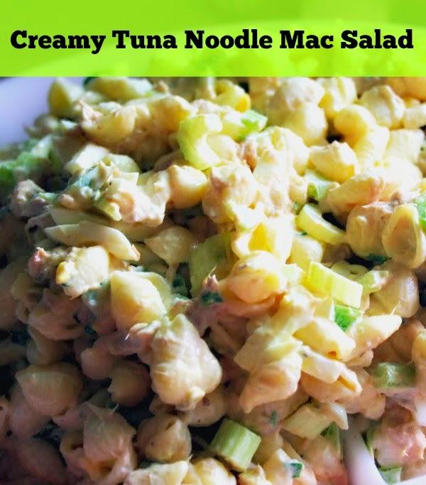 creamy tuna noodle macaroni salad