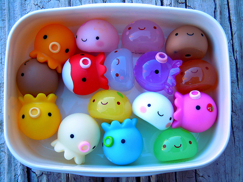 Japanese Kawaii Octopus Toy : The colorful white japanese toys