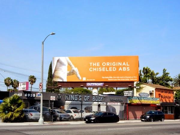 chiseled abs Getty Villa billboard