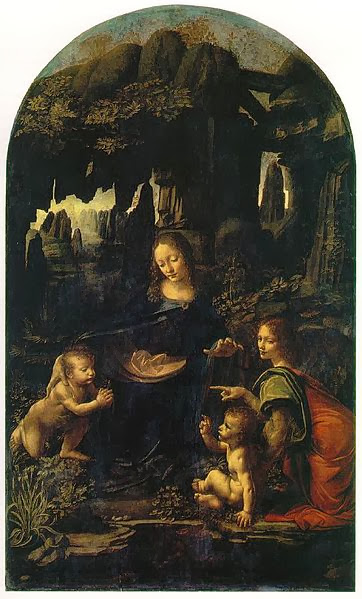 "Painting ""Virgin of the Rocks"" by Leonardo da Vinci, 1483-1486"