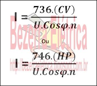 Formula da intensidade eletrica