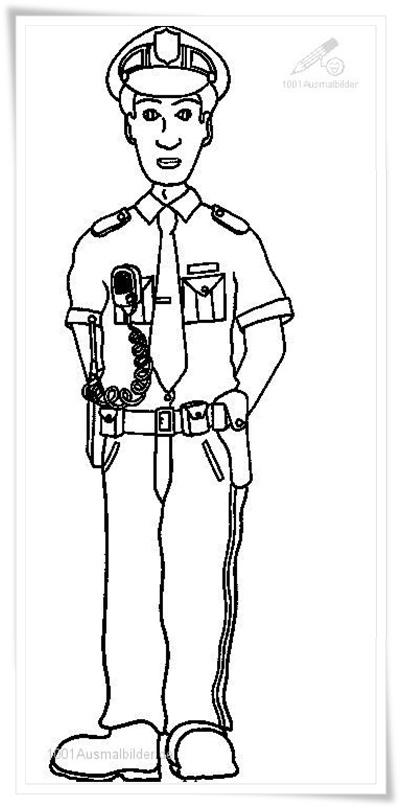 ausmalbilder zum ausdrucken polizei ausmalbilder