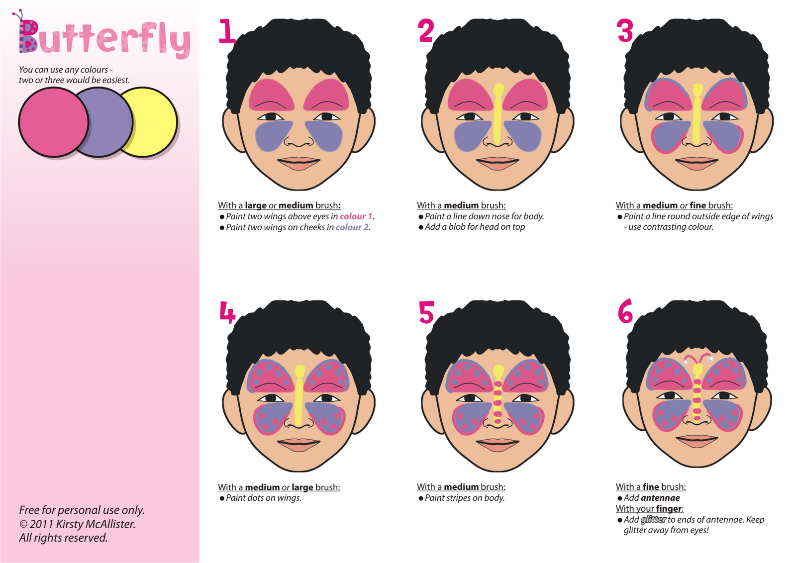 how do you learn how to do childrens face painting