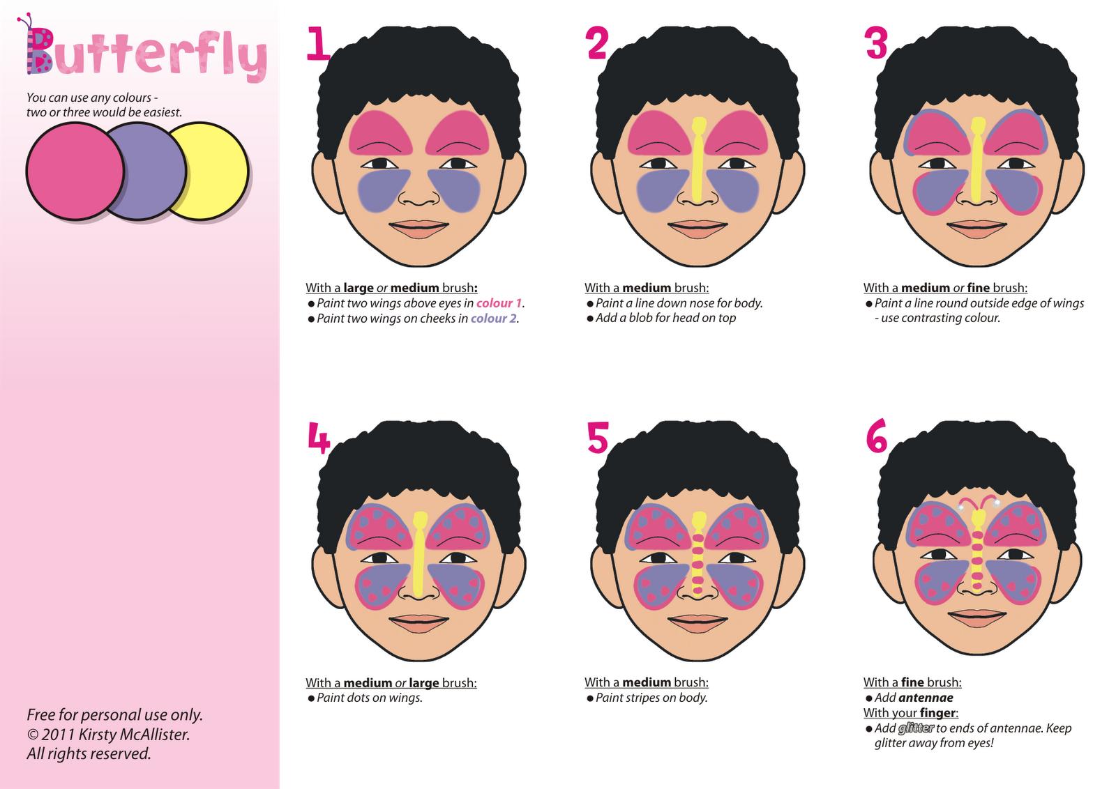 Uncategorized Simple Face Painting Templates miscellany of randomness face painting painting