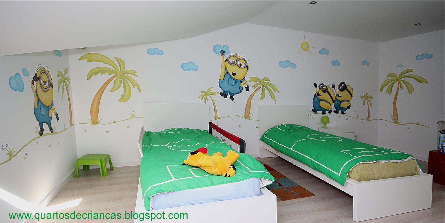 Pintura de quartos de crian as minions cascais - Pintura infantil pared ...