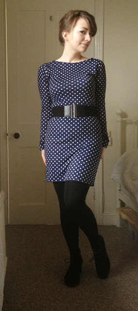 Boohoo Polka Dot Long Sleeve Dress review
