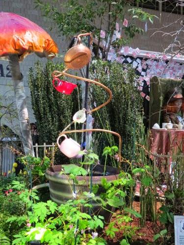 Philadelphia Flower Show 2015- fountains Alice in Wonderland