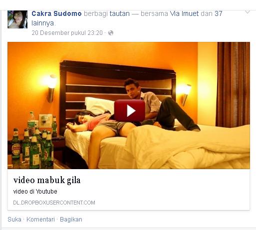 update gadis mabuk di facebook