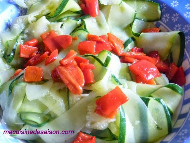 Tagliatelles de courgettes en salade