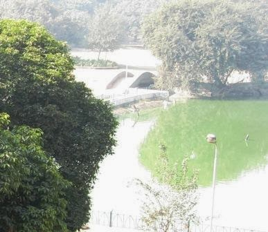 The lake of the Hauz Khas complex, Delhi