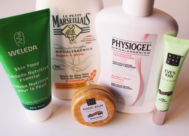 Hidratantes corporales para pieles secas, irritadas, reactivas o sensibles
