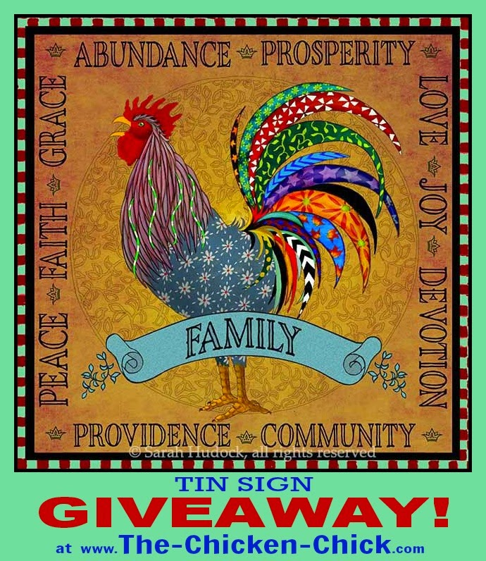 Sarah Hudock's Lighthearted Art Outdoor Tin Sign Giveaway at The Chicken Chick