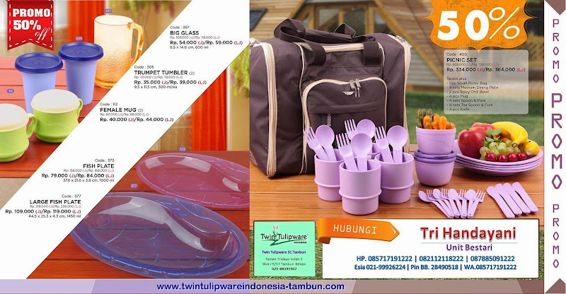 Promo Twin Tulipware Januari - Februari 2015 ~ Diskon 50%