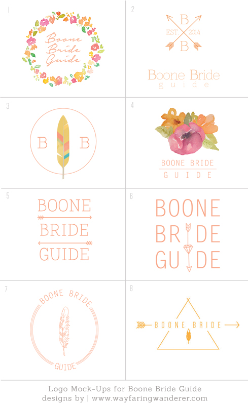 Boone Bride Guide | Wedding Planning Resource | Logo Design Process | Mock-ups