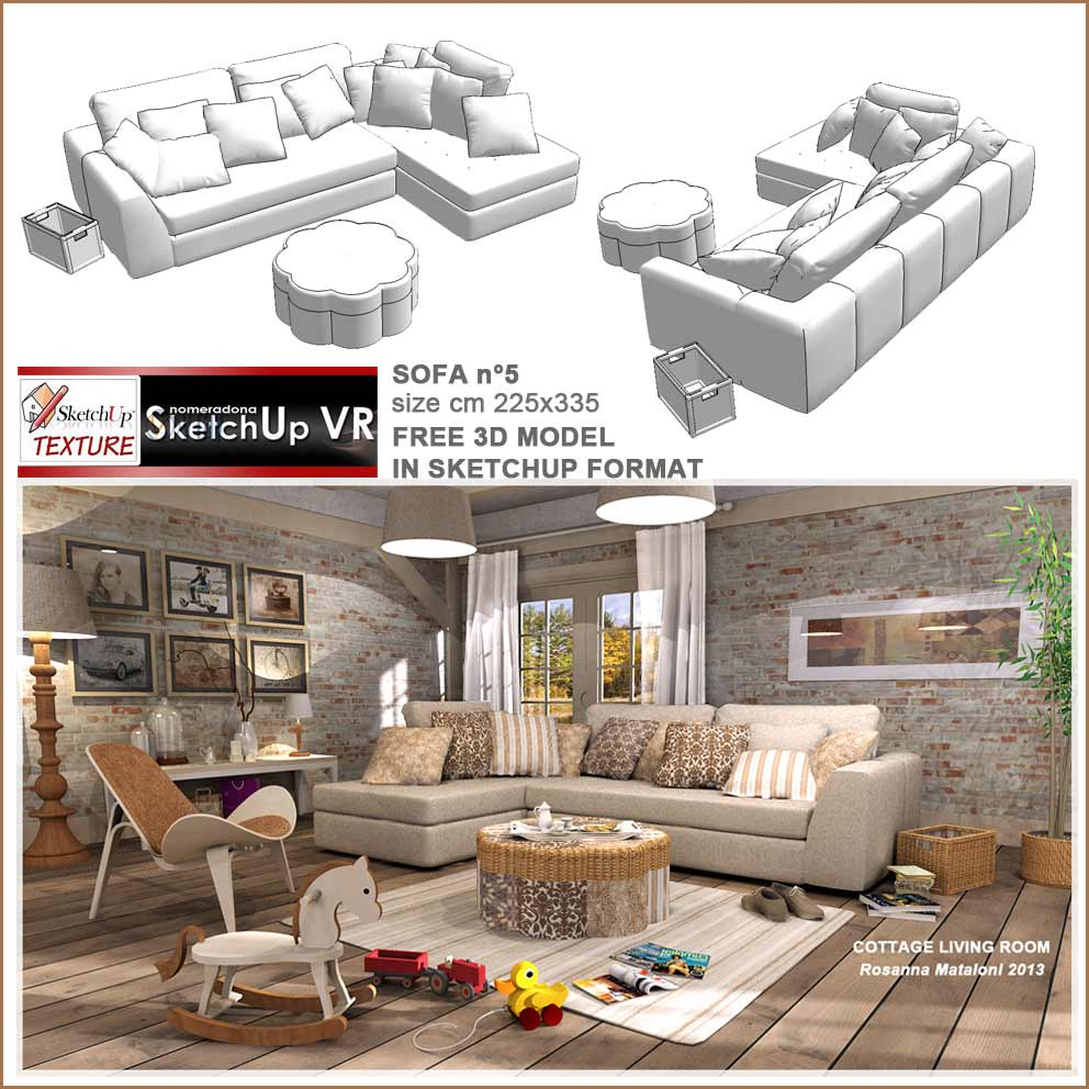 sketchup texture sketchup free 3d model sofa 39 n 5. Black Bedroom Furniture Sets. Home Design Ideas