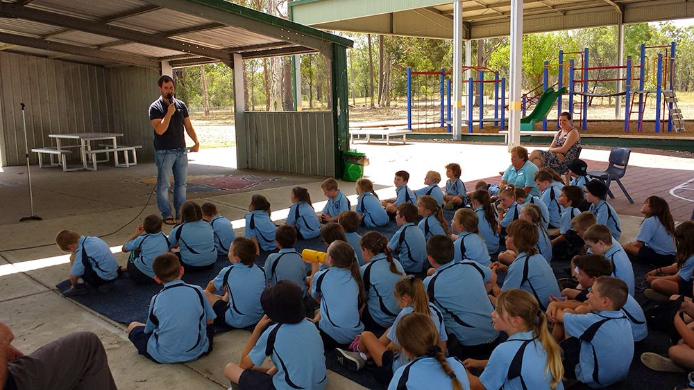 author visits rural area to share his story on becoming an author