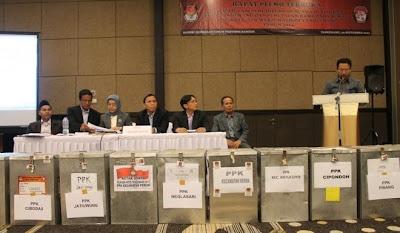 Rapat pleno terbuka rekapitulasi perhitungan suara di tingkat Kota Tangerang 2013