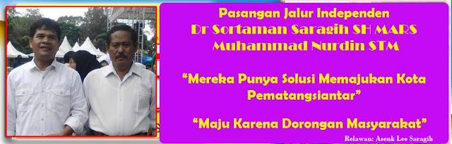 dr Sortaman Saragih SH MARS dan Muhammad Nurdin (STM)