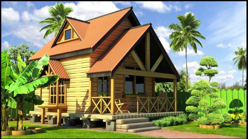 contoh rumah kayu modern