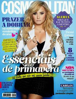 Demi Lovato Cosmopolitan Portugal Magazine Cover February 2014 HQ Scans