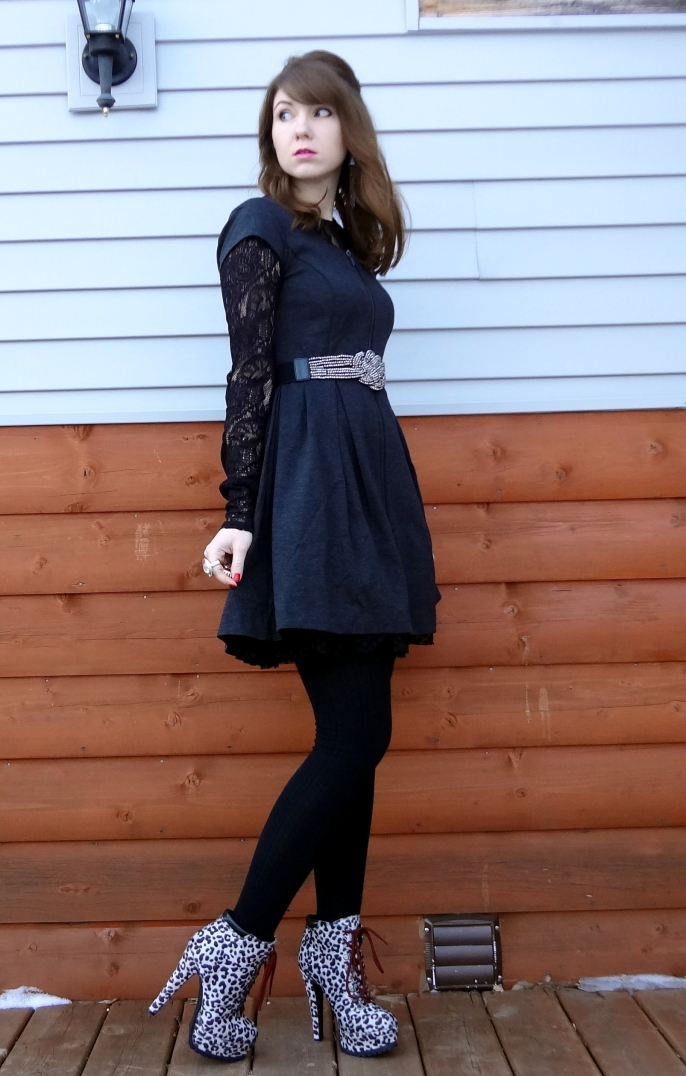 girly with an edge edgy winter outfit 2013