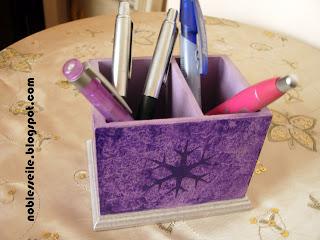 ahşap boyama kalemlik