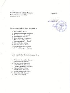 LISTA MEMBRILOR DE JURIU MAXIMAFILIE