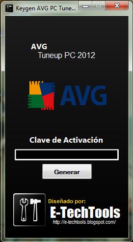 AVG PC Tuneup 2012 [Keygen por Separado]