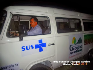 Prefeito de Senador Georgino Avelino Edval Bezerra entrega Transporte para a Saúde