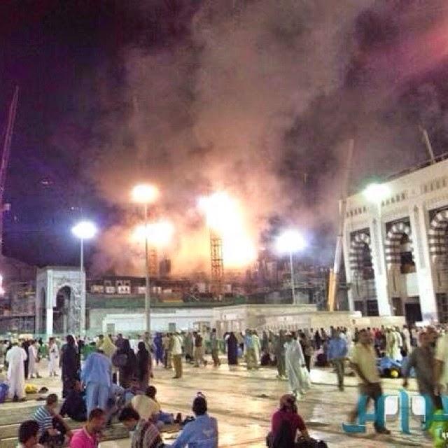 Seorang Maut Dalam Kebakaran Di Makkah (3 Gambar)