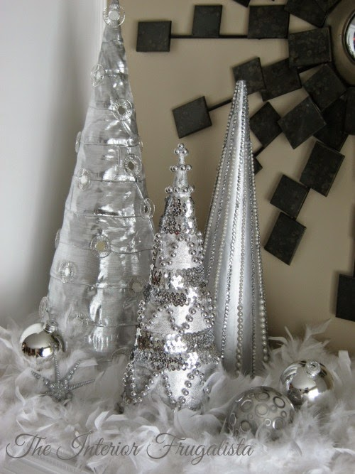 My Pier I inspired Christmas Cone Trees