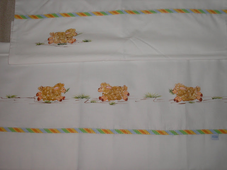Lençol de cama de grades pintado