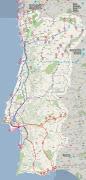 É o nosso Mapa de Portugal, os sítios que já explorámos nas diversas viagens . (mapa de portugal rotas tur adsticas dos coelhos)