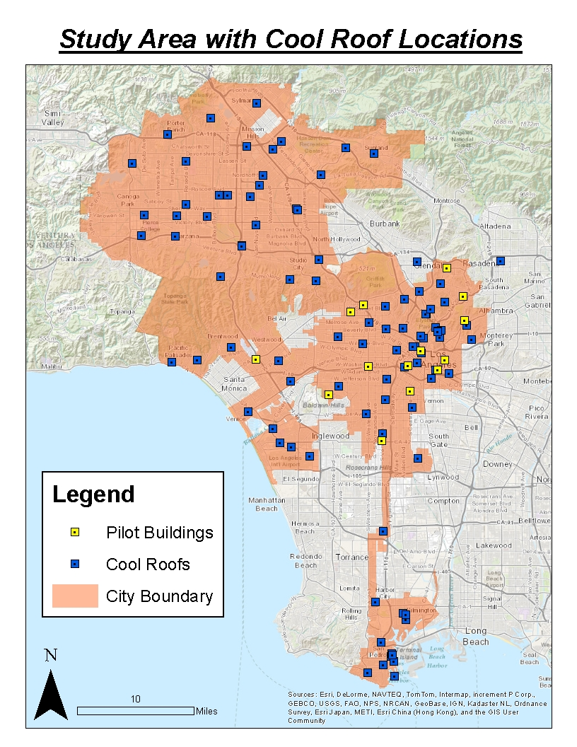 20 years and the los angeles city boundary there are more cool roofs in the city but this is the list of confirmed locations given to us by the city