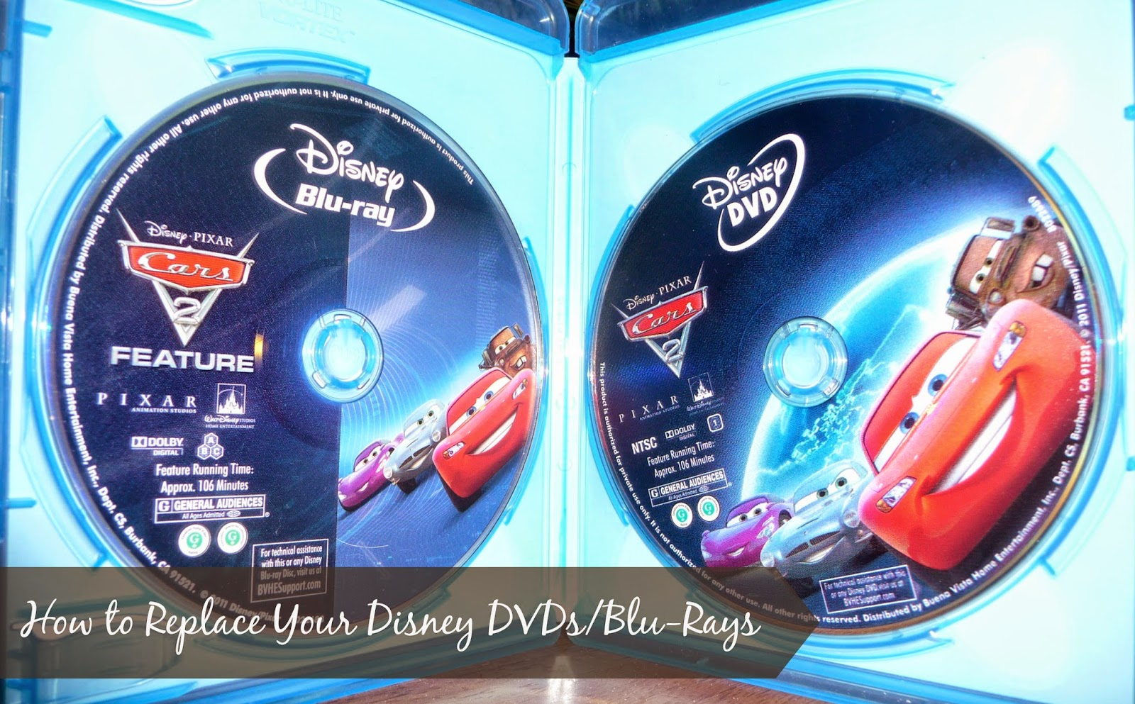 how to replace Disney movies without going to the store and buying a new one,