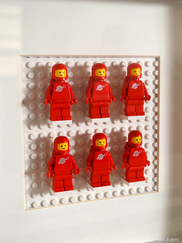 lego spaceman artwork - red spaceman minifigs